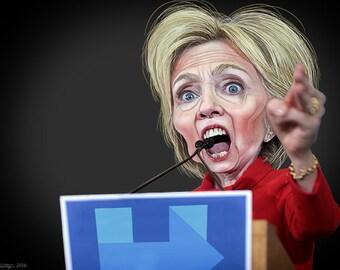 Hillary Clinton,  Caricature, Funny Photo #1