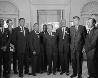 Civil rights leaders meet with President John F. Kennedy, 1963, MLK, John Lewis