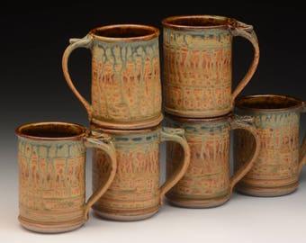 Coffee Mugs. Stoneware. Wheel thrown . Handmade