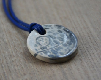 Death Star Ceramic Medaillon on a Leather Necklace