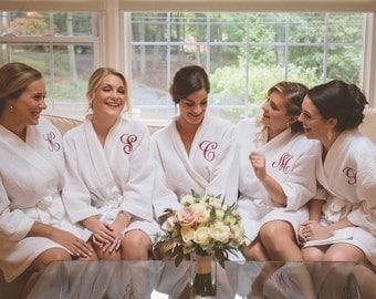 Bridesmaid Robes Bridesmaid Gift Monogram Robe Bridesmaid Gift Waffle Robe Bride Bridal Robe Personalized Robe Personalized Bridesmaids Gift