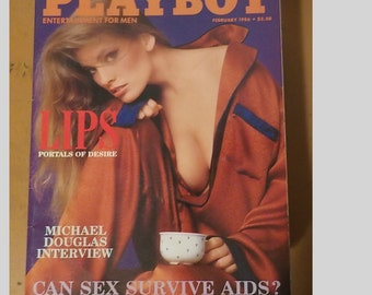 Playboy Magazine Entertainment For Men February 1986 Lips Issue EXCELLENT