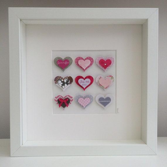 Paper Art Wedding Gift : Paper heart artPersonalised artcustom artwedding giftpaper ...