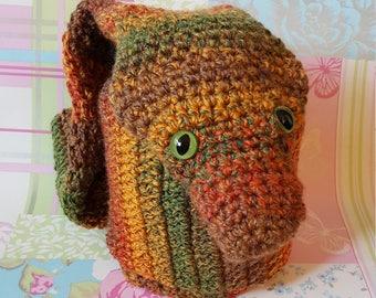 Crocheted scarf, animal scarf, novelty scarf, snake scarf, crocheted snake, winter scarf, crocheted snake scarf, childs scarf