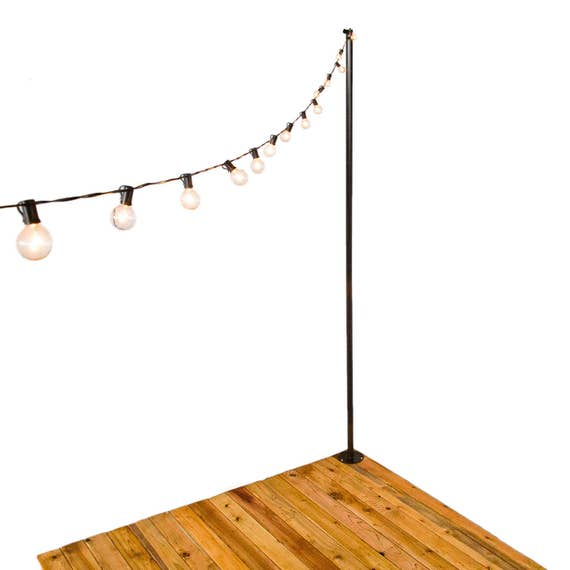 Light Stand Pole: IYN Pole Stands Black Hang String Lights Shading Or