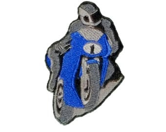 Motorcycle crotch rocket Road Bike Racer Iron On Patch stunters Logo Embroidered sportbikes Emblem