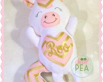 Personalized Unicorn Stuffie - Unicorn Stuffed animal - Monogram Unicorn - Baby Shower Gift - Birthday Gift - New Baby - Siblings Gift
