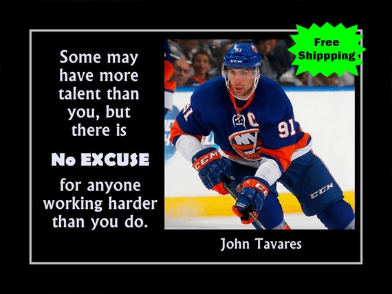 "John Tavares, Hockey Gift Art Print, Motivation Poster, SON Wall Decor, Hockey Decor, Hard Work Art, SON Art Gift, Son Decor, 8x10"", 11x14"""