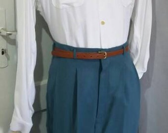 50s style slacks green grey