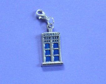 Doctor Who Tardis Purse Charm,Silver Tardis Charm,Bag Charm,Tardis Bracelet,Dr Who Bracelet Charm,Silver Charm,Silver Handbag Charm,Dr Who