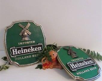 Heineken Beer Sign, Bar Sign, Man Cave Sign, Vintage Sign, Heineken Sign, Wall Table Bar Sign, 3 D Plastic Bar Sign, Bar Decor, Game Room