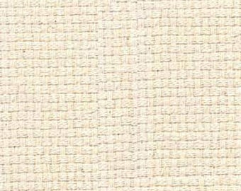 James Thompson - Natural Color Monks Cloth - 4x4 - Eight Count - Swedish Huck Weaving Fabric - By the Yard