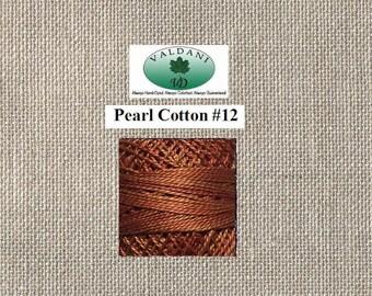 Valdani Pearl 12 - O506 Cinnamon Swirl - Cinnamon Brown Rusty Caramel - 100 Meter Ball