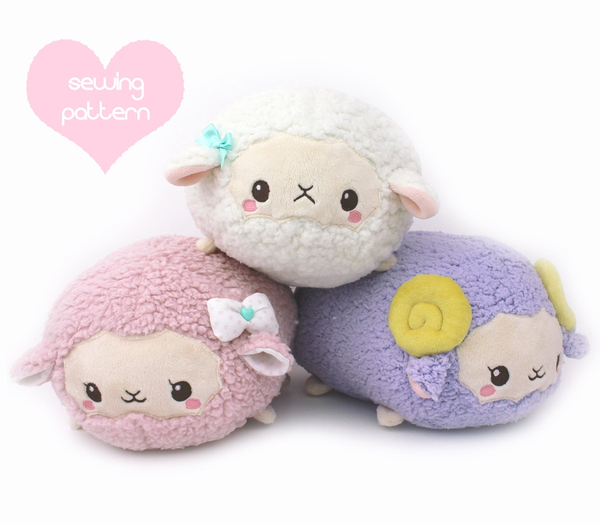 Pdf Sewing Pattern Sheep Roll Plush Stacking Loaf