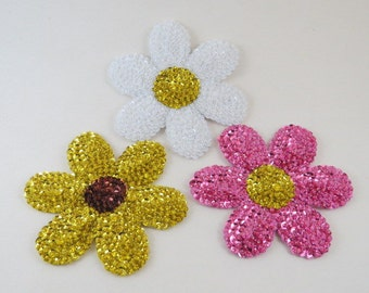 Kitchen Magnet Daisy Magnet Glass Beaded Flower Magnet Refrigerator Magnet Felt Magnets