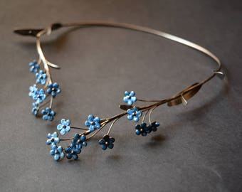 Stainless steel Necklace forget-me-not