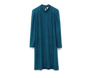 Vintage 70's Tunic  Dress - Emerald Green