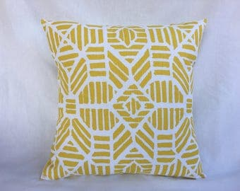 Large Couch Pillow Cover - Yellow Pillow Cover - Yellow Decorative Pillow Cover