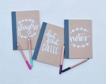 Hand lettered, embossed journal- small