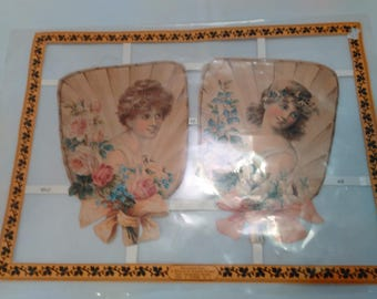 Reprinted from a History of PRINTED SCRAPS Art Picture Victorian Ladies