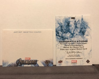 Upper Deck Marvel's The Avengers Sketch Card Commissions