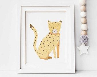 Zoo Animal Nursery, DIGITAL DOWNLOAD, Jungle Animal Prints, Baby Animal Nursery, Zoo Animal Decor, Cheetah Art, Baby Art, Safari Prints