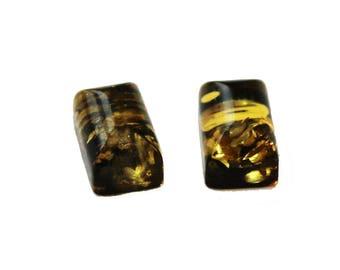 Green, Honey, Lemon Baltic Amber Pieces, , jewellery making, Cabochon semi precious gemstone Flat back, real Amber Bead, jewelry supplies