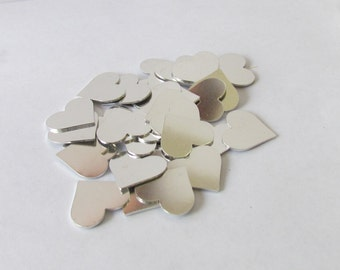 3/4 Hearts blanks -20 gauge - Aluminum blanks - Tumbled Blanks -PREMIUM - Hand stamping blanks - Stamping Supplies - pendant blanks