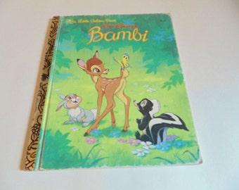 Vintage Bambi Book 1984 Children's Books Little Golden Book Bambi