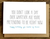 Funny Birthday Card - Birthday Card - Birthday Card for Friend - Pretending.