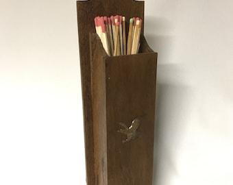 Vintage Fireplace Match Holder