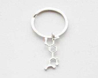 Adrenaline Molecule Keychain Adrenaline Keyring Adrenaline Keychain Chemistry Keychain Scientist Keychain Science Keychain