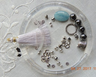 DIY Mala Kit / necklace kit, Bracelet kit. Everything you need for your Own Mala or necklace. Just buy 2 strings of beads of your choice