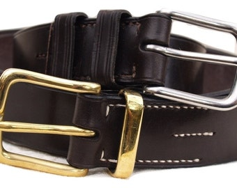 Made to measure English Leather Hand Stitched Leather Belt