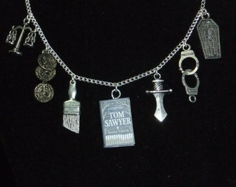 Tom Sawyer Book Necklace - Great Gift for Book Lovers!