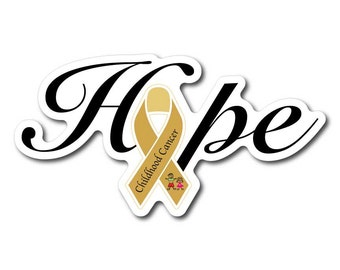 Childhood Cancer Awareness Sticker/Decal or Magnet