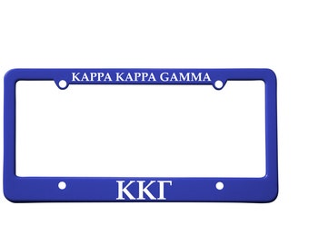 Officially Licensed Kappa Kappa Gamma License Plate Frame
