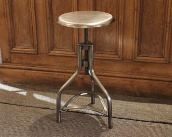 Industrial Metal Swivel Bar Stools - Vintage Retro Factory French Old Rustic Style Adjustable Bar Restaurant & Swivel bar stool | Etsy islam-shia.org