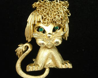 Lion Cub Pin Chain Mane Vintage by Mandle