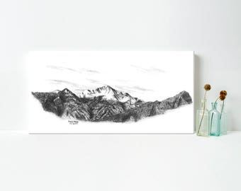Mountain Art - Mountain Art on Canvas - Pike's Peak Mountain Art - Colorado Mountain Art - Rocky Mountain Art - Mountain Wall Art - Canvas