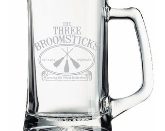 Harry Potter The Three Broomsticks Etched Mug