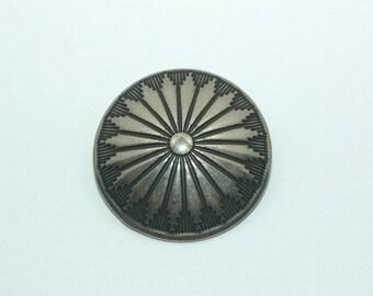 """Silver Southwestern Button. Size 1"""""""