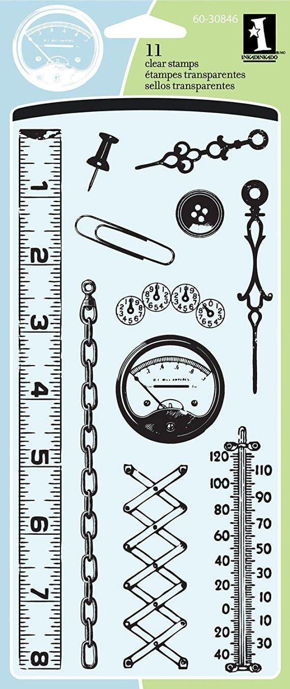Inkadinkado Clear Stamp Set Gadgets Household Items