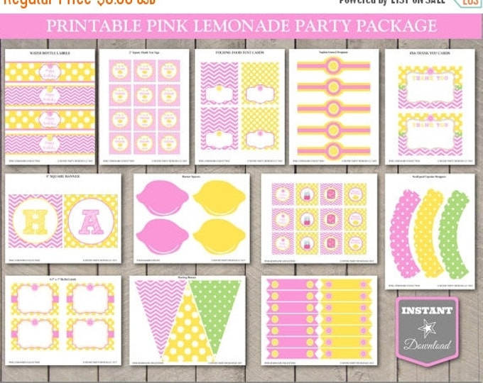 SALE INSTANT DOWNLOAD Pink Lemonade Printable Birthday Party Package / Diy Printables / Pink Lemonade Collection / Item #400