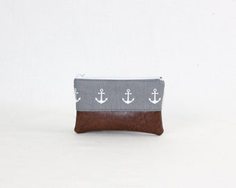 Mini bag - grey anchor