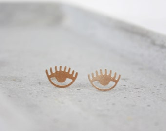 Rose gold-plated eye - ear plug B23