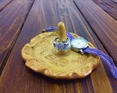 Ceramic ring holder dish,...