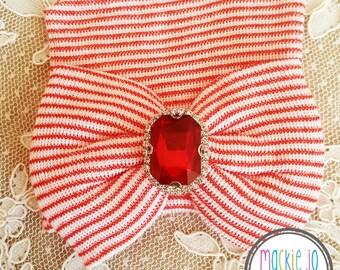 Red Stripe Hat With Rhinestone Newborn baby girl newborn hat newborn beanie hospital cap newborn girl newborn hat girl baby newborn