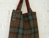 Handmade Recycled Kilt Bag (with FREE matching pouch)