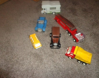 Group of small Tonka & Buddy L and other trucks for outdoor adventures  and sand box play